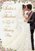 Sister & Husband Wedding Card